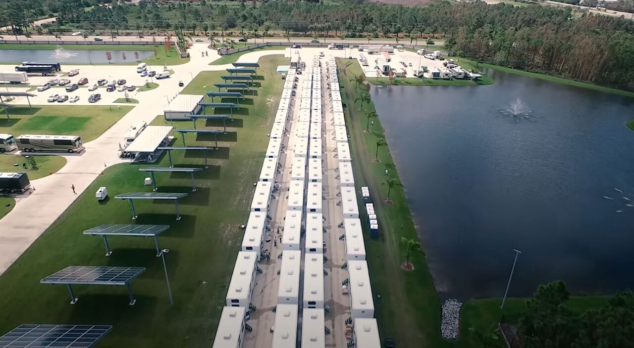 Florida Power & Light staging operations for Hurricane Irma - Sept. 2017