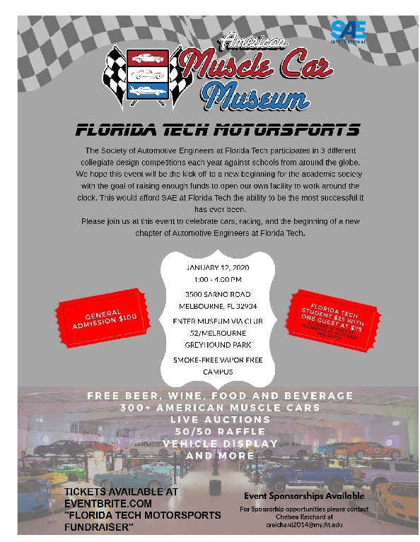 Florida Tech Motorsports SAE Fundraiser  Flyer