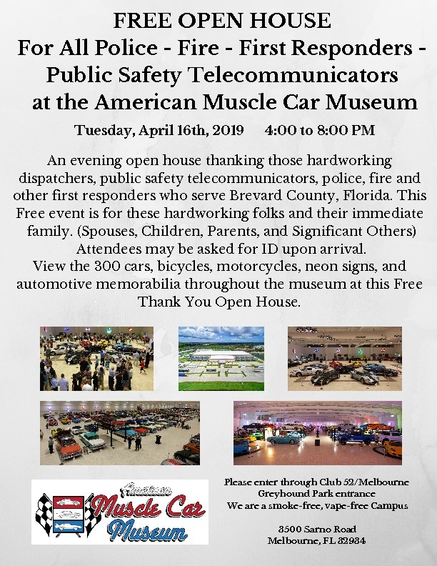 Public Safety and First Responders Appreciation Night Flyer