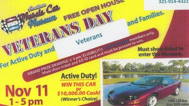 Veterans Day Car Giveaway