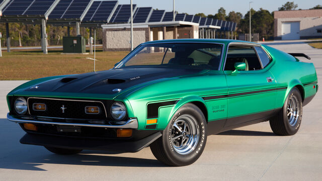 Happy St. Patrick's Day with this 1971 Boss 351